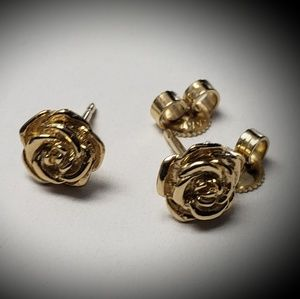 James Avery 14K Rose studs